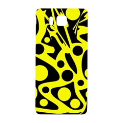 Black and Yellow abstract desing Samsung Galaxy Alpha Hardshell Back Case