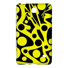Black and Yellow abstract desing Samsung Galaxy Tab 4 (8 ) Hardshell Case