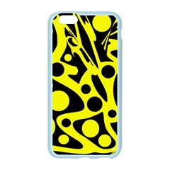 Black and Yellow abstract desing Apple Seamless iPhone 6/6S Case (Color)