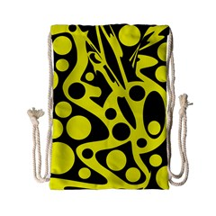 Black and Yellow abstract desing Drawstring Bag (Small)
