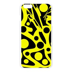 Black and Yellow abstract desing Apple Seamless iPhone 6 Plus/6S Plus Case (Transparent)