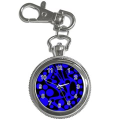 Blue and black abstract decor Key Chain Watches