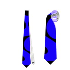 Blue and black abstract decor Neckties (One Side)