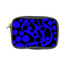 Blue and black abstract decor Coin Purse