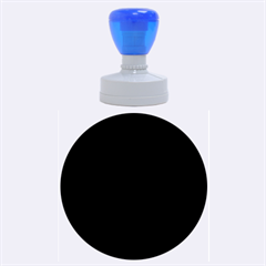 Blue and black abstract decor Rubber Round Stamps (Large)