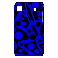 Blue and black abstract decor Samsung Galaxy S i9000 Hardshell Case