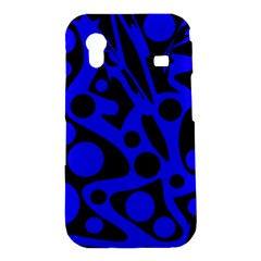 Blue and black abstract decor Samsung Galaxy Ace S5830 Hardshell Case