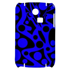 Blue and black abstract decor Samsung S3350 Hardshell Case