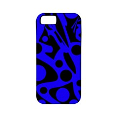 Blue and black abstract decor Apple iPhone 5 Classic Hardshell Case (PC+Silicone)