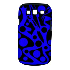 Blue and black abstract decor Samsung Galaxy S III Classic Hardshell Case (PC+Silicone)