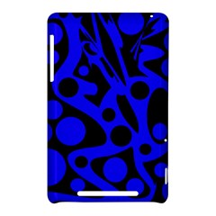 Blue and black abstract decor Nexus 7 (2012)
