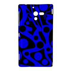 Blue and black abstract decor Sony Xperia ZL (L35H)