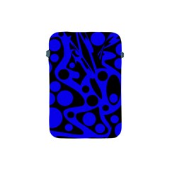 Blue and black abstract decor Apple iPad Mini Protective Soft Cases