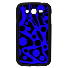 Blue and black abstract decor Samsung Galaxy Grand DUOS I9082 Case (Black)