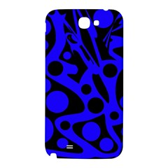 Blue and black abstract decor Samsung Note 2 N7100 Hardshell Back Case