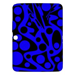 Blue and black abstract decor Samsung Galaxy Tab 3 (10.1 ) P5200 Hardshell Case