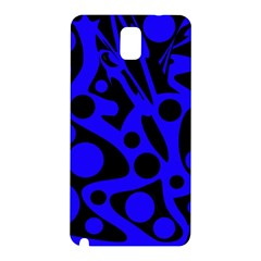 Blue and black abstract decor Samsung Galaxy Note 3 N9005 Hardshell Back Case