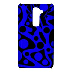 Blue and black abstract decor LG G2