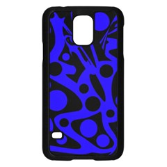 Blue and black abstract decor Samsung Galaxy S5 Case (Black)