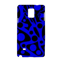 Blue and black abstract decor Samsung Galaxy Note 4 Hardshell Case
