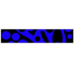 Blue and black abstract decor Flano Scarf (Large)