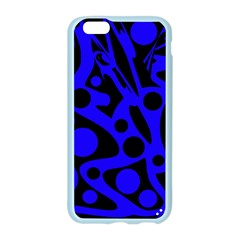 Blue and black abstract decor Apple Seamless iPhone 6/6S Case (Color)