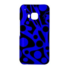 Blue and black abstract decor HTC One M9 Hardshell Case