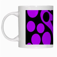 Purple and black abstract decor White Mugs