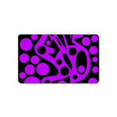 Purple and black abstract decor Magnet (Name Card)