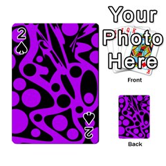 Purple and black abstract decor Playing Cards 54 Designs