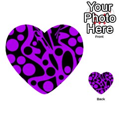 Purple and black abstract decor Multi-purpose Cards (Heart)
