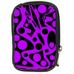 Purple and black abstract decor Compact Camera Cases