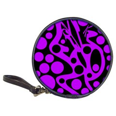 Purple and black abstract decor Classic 20-CD Wallets
