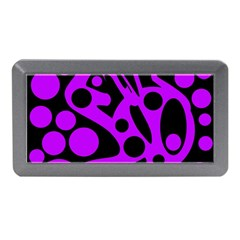 Purple and black abstract decor Memory Card Reader (Mini)