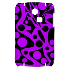 Purple and black abstract decor Samsung S3350 Hardshell Case