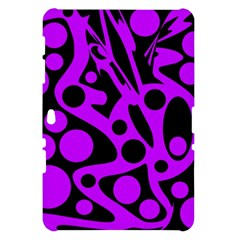 Purple and black abstract decor Samsung Galaxy Tab 10.1  P7500 Hardshell Case
