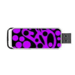 Purple and black abstract decor Portable USB Flash (One Side)