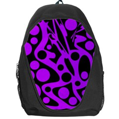 Purple and black abstract decor Backpack Bag