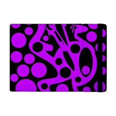 Purple and black abstract decor Apple iPad Mini Flip Case