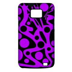 Purple and black abstract decor Samsung Galaxy S II i9100 Hardshell Case (PC+Silicone)