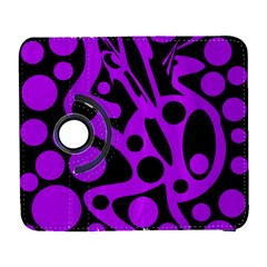 Purple and black abstract decor Samsung Galaxy S  III Flip 360 Case