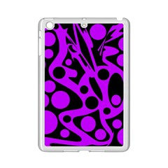 Purple and black abstract decor iPad Mini 2 Enamel Coated Cases