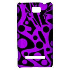 Purple and black abstract decor HTC 8S Hardshell Case