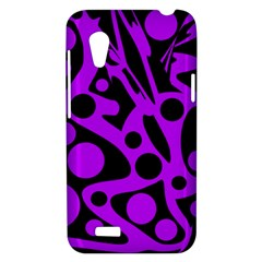 Purple and black abstract decor HTC Desire VT (T328T) Hardshell Case