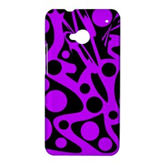 Purple and black abstract decor HTC One M7 Hardshell Case