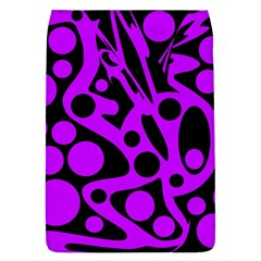 Purple and black abstract decor Flap Covers (L)
