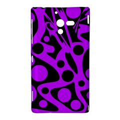 Purple and black abstract decor Sony Xperia ZL (L35H)