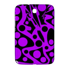 Purple and black abstract decor Samsung Galaxy Note 8.0 N5100 Hardshell Case