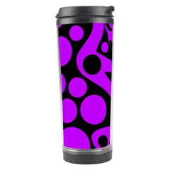 Purple and black abstract decor Travel Tumbler