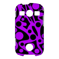 Purple and black abstract decor Samsung Galaxy S7710 Xcover 2 Hardshell Case